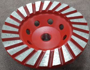 Diamond Double Rows Cup Wheel (SZJ7245) for Polishing Stones pictures & photos