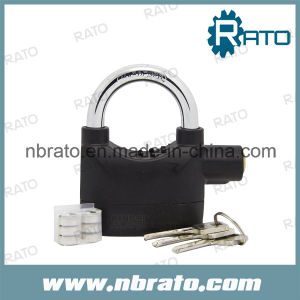 Black Siren Alarm Padlock Alarm Lock for Bicycle