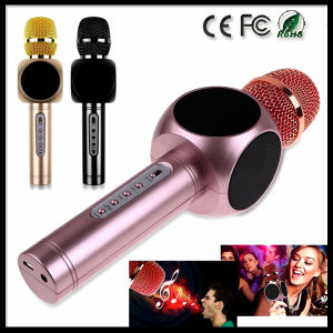 Karaoke Player Portable Wireless Bluetooth Microphone with Mic Speaker