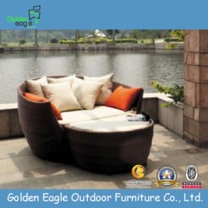 Stylish PE Rattan Outdoor Patio Sofa Bed Wicker Chair