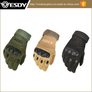 Military Hunting Tactical Cycling Airsoft Full Finger Sports Gloves Green pictures & photos