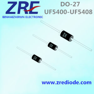 3A UF5400 Thru UF5408 High Efficiency Rectifier Diode Do-27 Package pictures & photos