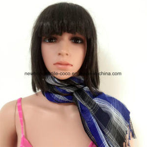 100% Polyester, Voile Yarn Dyed Material Multifunctional Scarf with Checks