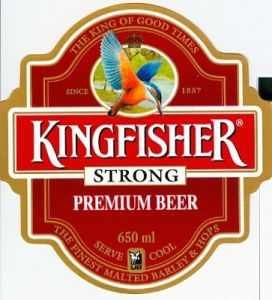 photograph regarding Printable Beer Bottle Labels called Released Kingfisher Beer Label / Beer Bottle Label for India