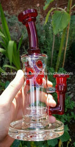 Colorful Sand Blasting Glass Smoking Water Pipe with Swiss pictures & photos