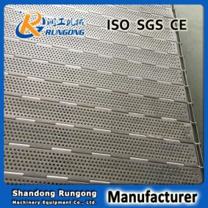 Heat Resistance Plate Linked Perforated Conveyor Belt pictures & photos