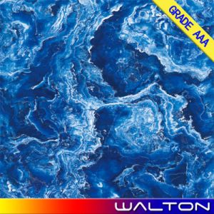 600X600 Blue Color Polished Glazed Copy Marble Porcelain Floor Tile (WT-6C009)