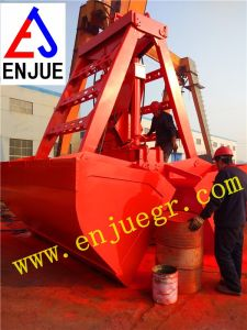 10 Cbm 20t Clam Shell Hydraulic Remote Controlled Grapple Grab for Ship Crane pictures & photos