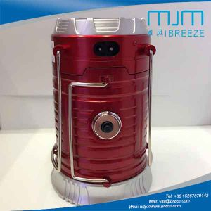 New Arrival Red Camping Lantern with Solar Rechargeable