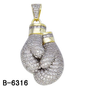 Fashion Jewelry 925 Silver 14k Gold Plated Micro Setting Pendants. pictures & photos