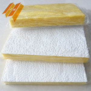 White PVC Foil Fiber Glass Wool Ceiling Tile Blanket pictures & photos