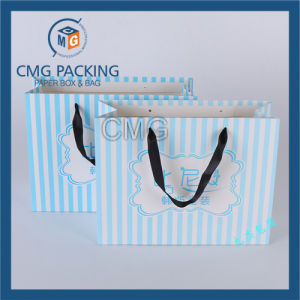 Blue Gift Paper Bag with Printing pictures & photos