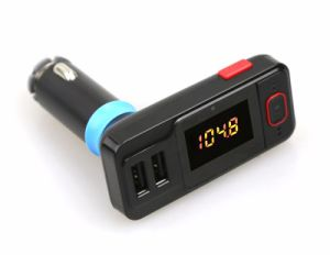 Dual USB Port 2.1A Vehicle Car MP3 Player Wireless FM Transmitter with Car Charging Function Support USB Aux-in Micro SD pictures & photos
