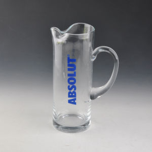 Handblown Glass Beer Jug with Decal Printing pictures & photos