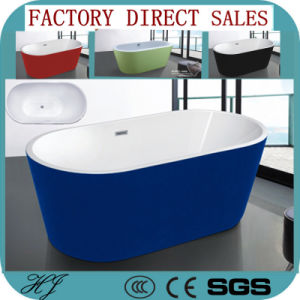 2015 New Colour Acrylic Sanitary Ware Bathroom Tub Bath (608E) pictures & photos