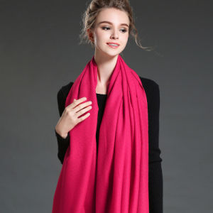 Women in Winter to Keep Warm Plain Mei Red   Polyester Scarf Shawl