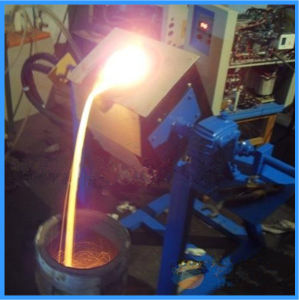 20kg Medium Frequency Tilting Small Gold Smelting Equipment (JLZ-25) pictures & photos