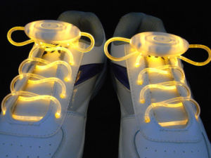 Fancy Flashing Shoelaces Ultra-Brightness LED Nylon Shoe Laces pictures & photos