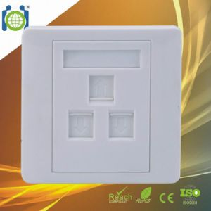 3 Port 86*86mm Network Wall Plate