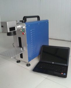 Hot Sale Portable Mini Desktop Fiber Laser Marking Machine for Metal and Non-Metal pictures & photos