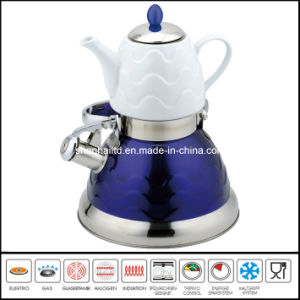 3L+0.75L Double Water Pot with Ceramic Teapot pictures & photos