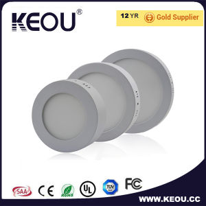 Ce/RoHS Commercial/Indoor Round LED Ceiling Panel Light White Frame pictures & photos