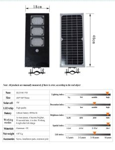 9W-a Integrated Solar Street Light (illuminated area 30 square meters) pictures & photos