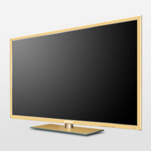 50 Inches Cheap Price LED Smart Monitor Gold Shell with Square Stand Cp50se-W8