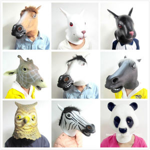 Latex Rubber Halloween Costume Horse Head Mask Christmas Party Decorations Adult