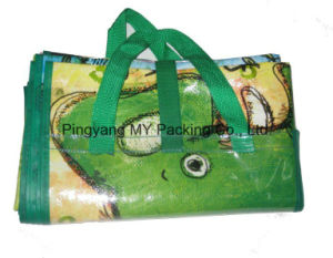Colorful Printing Portable PP Woven Beach Mat pictures & photos