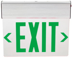 Edge-Lit Transparent Acrylic Panel LED Exit Sign pictures & photos