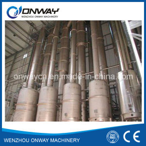 Shjo High Efficient Vacuum Juice Ketchup Processing Machine Concentrator Evaporator Fruit Juice Falling Thin Film Evaporation pictures & photos