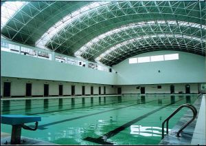 China Swimming Pool Canopy Covering Roofing - China Swimming Pool ...