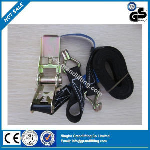 Auto Ratchet Tie Down Polyester-Ties Cargo Lashing pictures & photos
