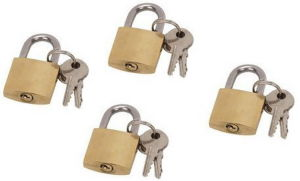 Cheap Simple Short Shackle Brass Padlock Finishing Polished