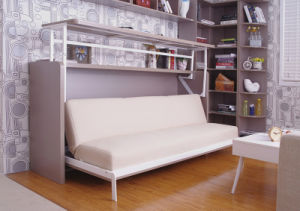 Single Side Bedroom Wall Bed With Lifting Writing Desk pictures & photos