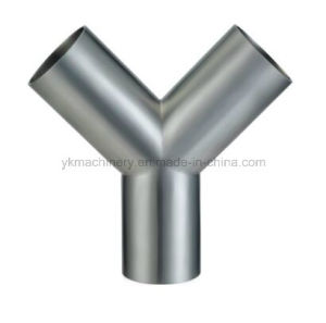Stainless Steel Y-Type Welded Sanitary Tee