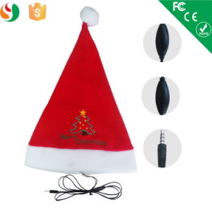 Best Christmas Gift Earphone with Mic, Christmas Hats with Music pictures & photos
