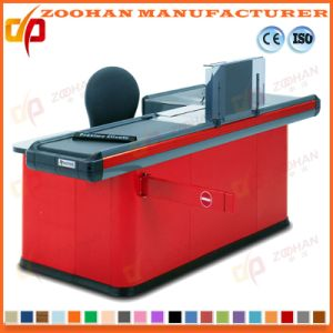 Supermarket Store Electric Cash Checkout Counter with Conveyor Belt (ZHC15) pictures & photos