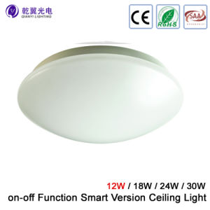 12W SAA LED Oyster Ceiling Wall Light with on-off Function Smart Version Light