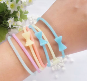 OEM Bowknot Fluorescent Color Bracelets pictures & photos