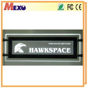 Laser Engraved Logo LED Edge-Lit Crystal Acrylic Sign Board
