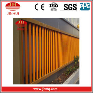 PVDF Coating Yellow Pipe Safety Fence/Security Handrail Fence (Jh162)