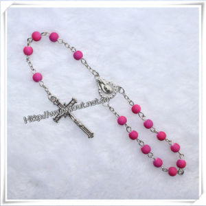 Pink Plastic Beads Chain Car Rosary Fashion Religious Products (IO-CB008) pictures & photos