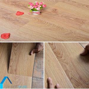 Non Slip Wood Grain Click Interlocking Pvc Floor Plank Vinyl Sheet With No Glue