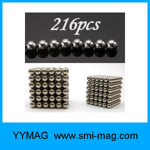 Hot Sale 3mm 5mm 216 Silver Neodymium Magnetic Ball pictures & photos