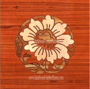 Maple Flower Art Parquet Wood Floor