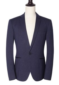 Custom Men′s One Piece Dark Blue Blazer