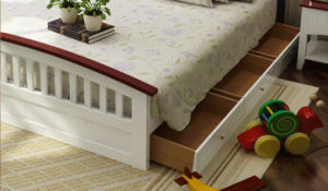 Solid Wood Adult Double Bed with High Quality (M-X3023) pictures & photos