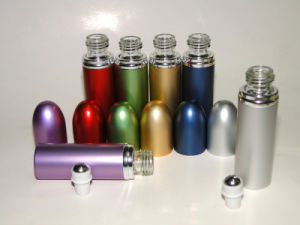 15ml Glass Cosmetic&Essential Oil&Perfume Roller Ball Bottle pictures & photos